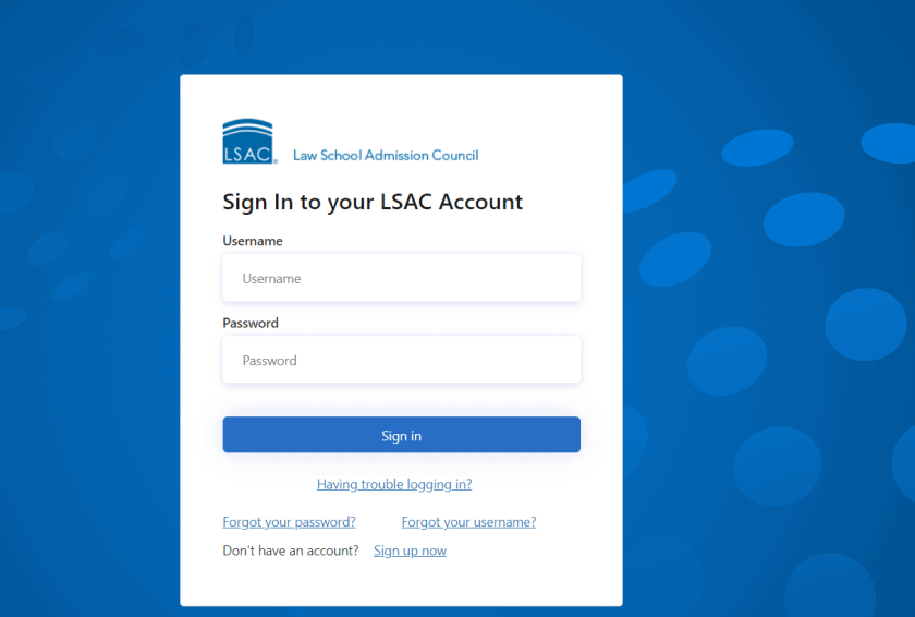 Sign in to your LSAC Acoount