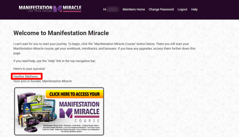 Manifestation Miracle Course Review