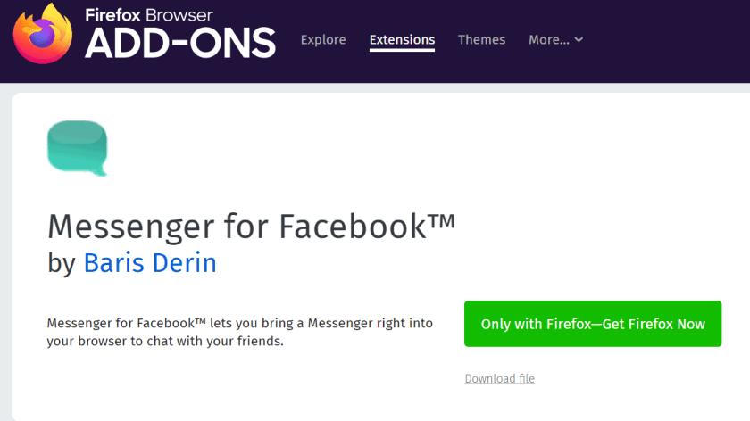 Facebook Messenger Apps Firefox
