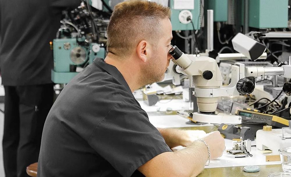 job burnishing control swiss watch equipment affolter geartrain