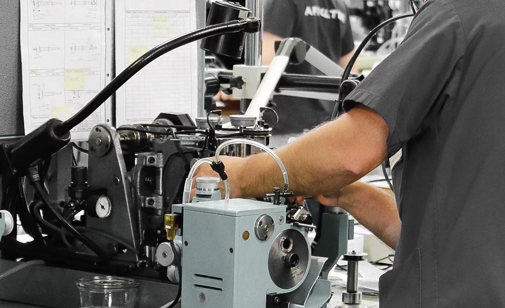 job burnishing setup swiss watch affolter geartrain