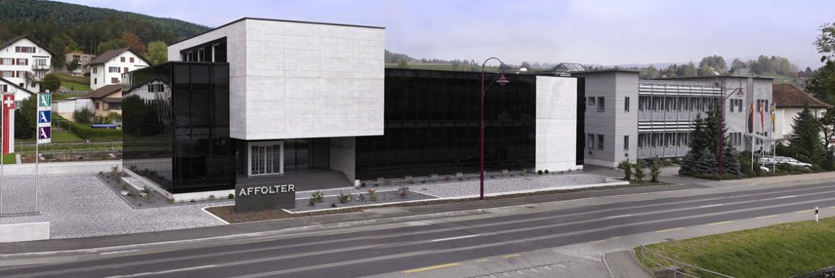 Le bâtiment pincipal du groupe AFFOLTER à Valbirse, Jura Bernois en Suisse