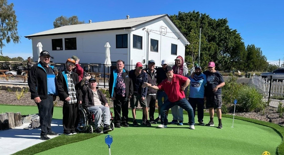 Beenleigh on the green at the golf day
