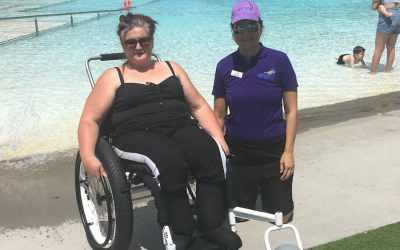 Sharlene's Beach Wheelchair Dream Becomes A Reality