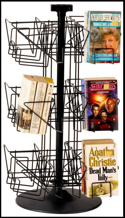 spinning book racks wire book racks