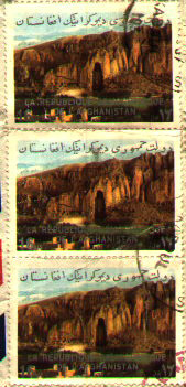 Stamps showing Bamiyan