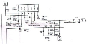 Electronic Circuit Diagram TV Vertical Using LA78041