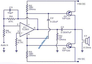 25W Audio Amplifier Circuit very simple   Electronic