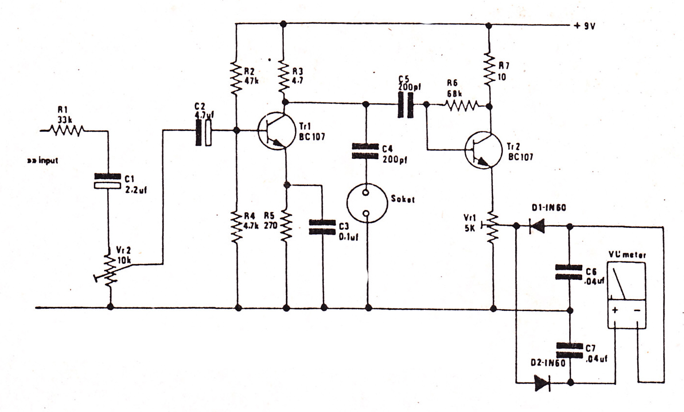 Circuit Diagram Led Vu Meter