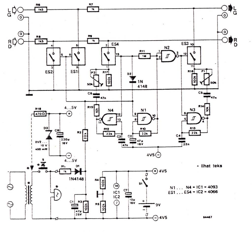 Audio Doorphone Intercom Circuits Using And