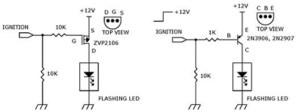 How to Build Circuit diagram using ZVP2106, 2N3906, 2N2907