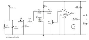 AM radio circuit diagram | Electronic Circuit Diagram and Layout