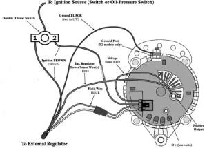 wiring diagram Balmar 6 series alternator | Electronic