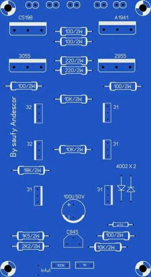 High Power Audio Amplifier Layout Diagram | Electronic Circuit Diagram and Layout