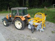 Roto 66 P3P pliée montée sur tracteur