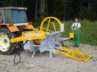 Roto 66 P3P dépliée avec tracteur