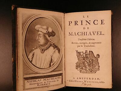 1686-Machiavelli-PRINCE-Italian-Renaissance-Philosophy-Politics-French