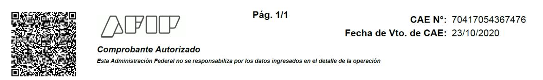 Pie del PDF del comprobante