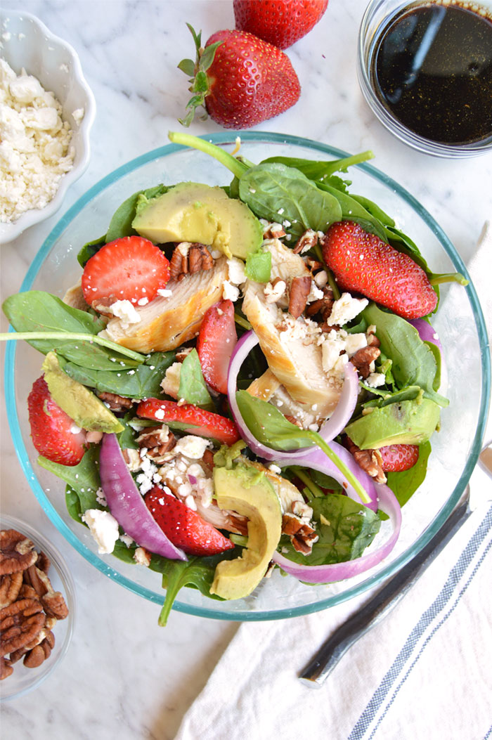Strawberry Salad with Chicken