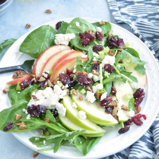 Cranberry Apple Spinach Salad