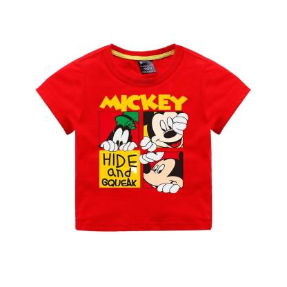 Baby-Girl-Boy-T-Shirt-Vetement-Enfant-Fille-Cartoon-Mickey-Printed-Short-Sleeve
