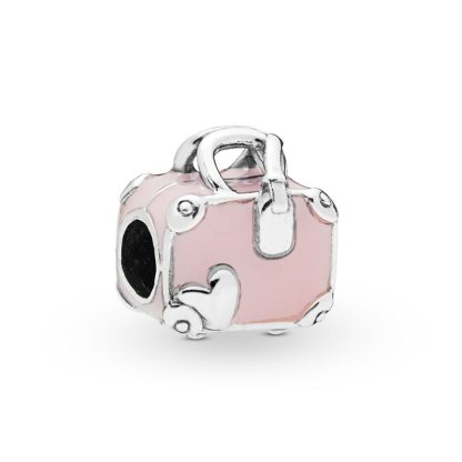Pink Travel Bag Charm Pandora | Material 925 Sterling Silver