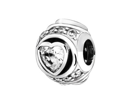 Elevated Heart Charm Pandora | Material 925 Sterling Silver