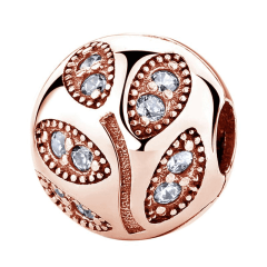 Pandora Rose Gold Leaf Charm | Material 925 Sterling Silver