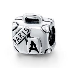 Paris Suitcase Pandora Charm   Material 925 Sterling Silver