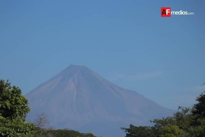 volcan arbol plantas 13 696x464 - Volcán de Colima continúa con actividad fumarólica de baja intensidad