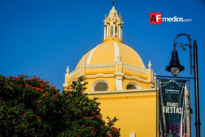 catedral centrocolima 1 696x466 - Máximas de 35° a 40°C y cielo despejado para Colima: SMN