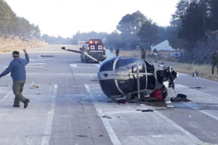helicoptero19 696x464 - Helicóptero militar se desploma en Chihuahua - #Noticias