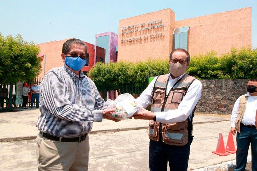 depensasucolmay - Universitarios donan mil despensas para apoyar en contingencia sanitaria