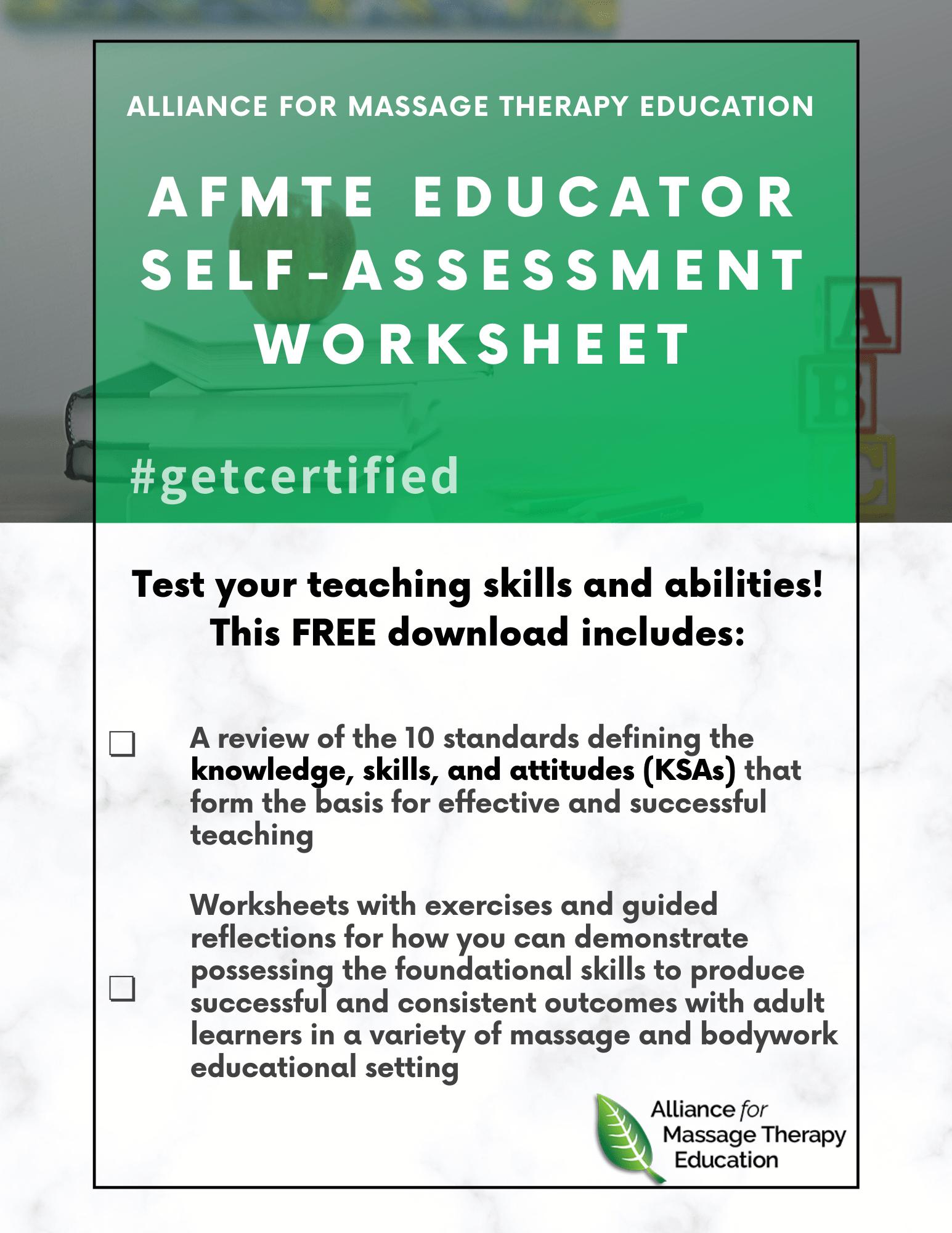 Test Yourself Get Afmte Self Assessment Worksheets Free
