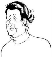 Elisa Penna in una caricatura di Luciano Milano - click