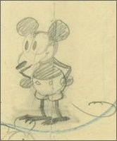 Earliest known drawings of Mickey Mouse, 1928. Credit: Copyright Disney Enterprises Inc./courtesy Walt Disney Family Foundation - click here for the full page