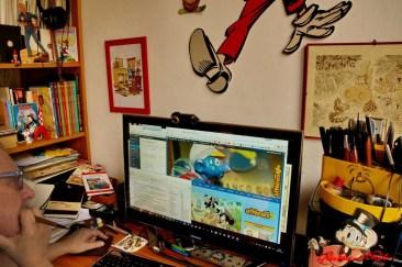 Gianfranco Goria al computer