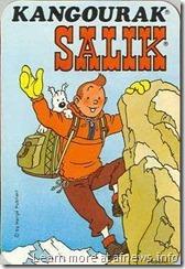 Tintin kangourak salik pubblicità