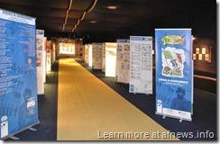 allestimento della mostra striscie di risorgimento al museo del fumetto di lucca