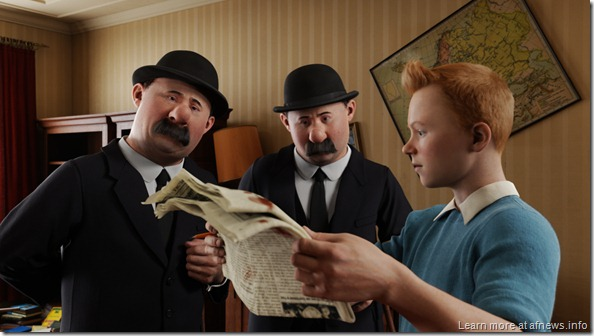 (L to R) THE ADVENTURES OF TINTIN: THE SECRET OF THE UNICORN