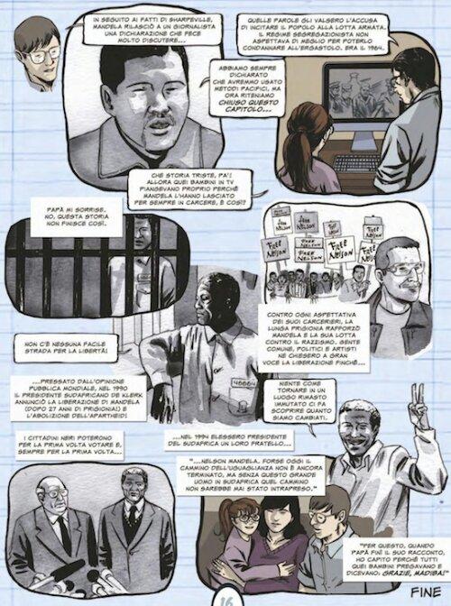 Madiba su il Giornalino coi testi di Fabrizio Lo Bianco e i disegni di Claudio Stassi
