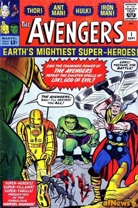 Primo numero americano della serie a fumetti The Avengers n. 1 1963