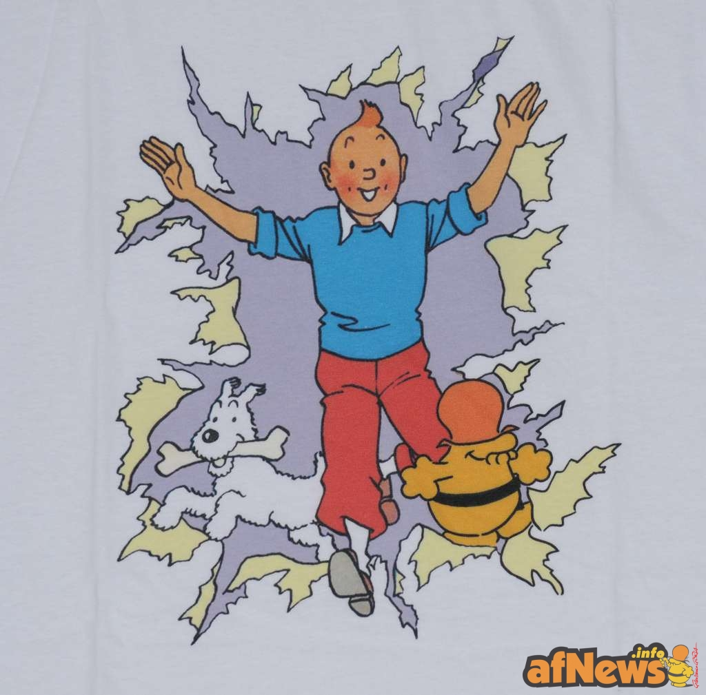 2015-07-30-afnews-t-shirt by Malagutti con Tintin e BAB