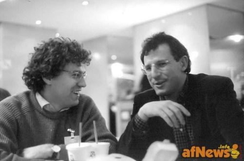 Guido Tiberga e Luca Raffaelli - Angouleme 1996 - foto Goria