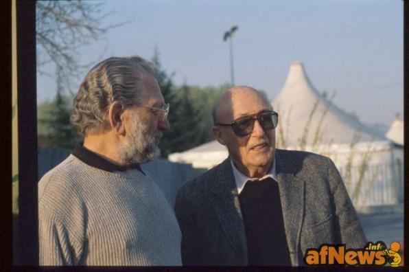 Joe Kubert e Will Eisner - foto Gianfranco Goria