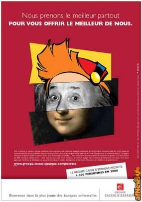 Spirou Einstein MonnaLisa pubblicità Visage-1 - afnews