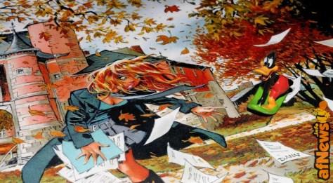 Piccolo pupazzetto di Duffy Duck su disegno di Dany per il calendario dei Castelli della Vallonia del 2009 - mese di ottobre. Foto Gianfranco Goria dalla serie FumettoSuFumetto.