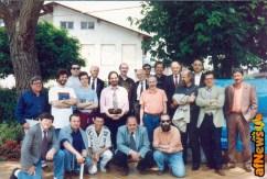 1995, Vernante: tra gli astanti Enzo D'Alò, Gabriele Goria, Gianfranco Goria, Pierpaolo Rovero, Alberto Gedda, Bruno Sarda, Giovan Battista Carpi, Vittoro Pavesio, Paolo Allara et al.
