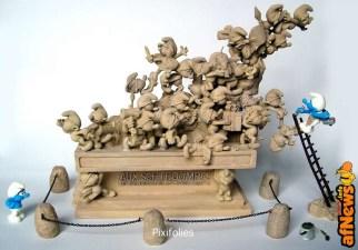 Pixi-monument-Schtroumpfs-afnews