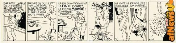Tintin striscia etoile-afnews